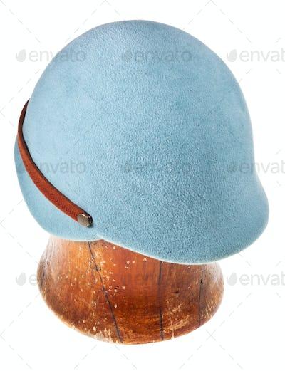 felt light blue soft cap