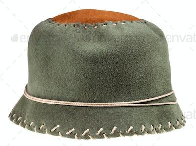 felt green soft cloche hat