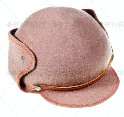 felt soft hat ushanka with cap peak