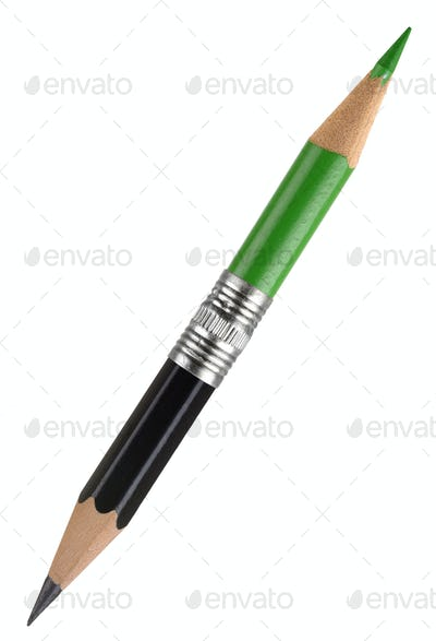 Green and black pencil