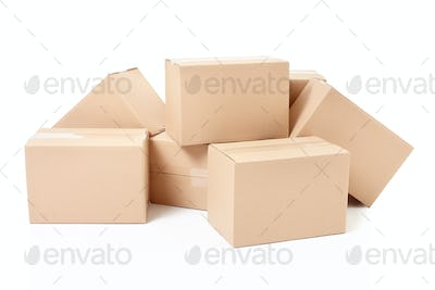 Cardboard boxes, small group