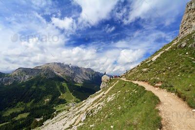 hike in Italian Dolomites