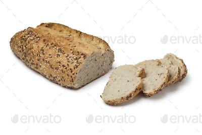 Fresh multi grain bread and slices