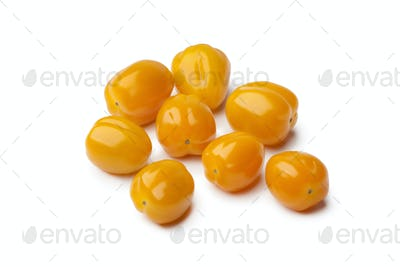 Heap of yellow baby tomatoes