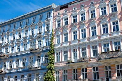 Restored houses in Berlin