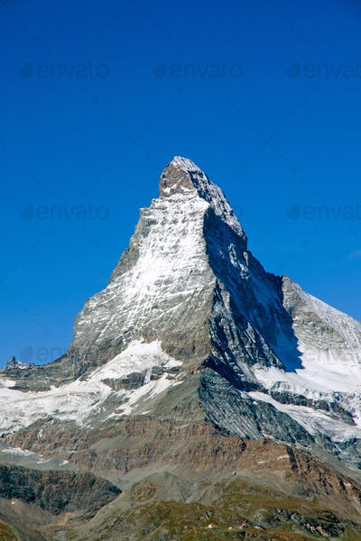 The perfect pyramid of the Matterhorn