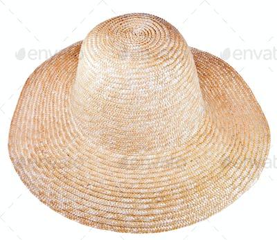 country straw broad brim hat