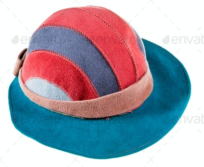 felt bongrace hat with wide cap peak