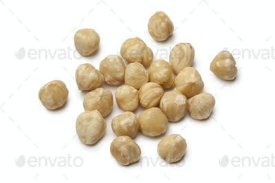 Fresh peeled Macadamia nuts
