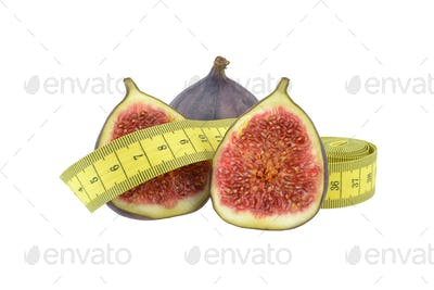 Fig Fruit with Measuring Tape