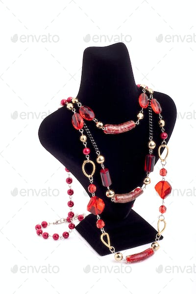 Elegent necklace on mannequin