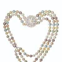 Frame of necklace heart shape