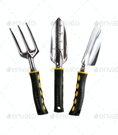 Set of metal garden instruments