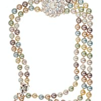 Frame of necklace with a brooch