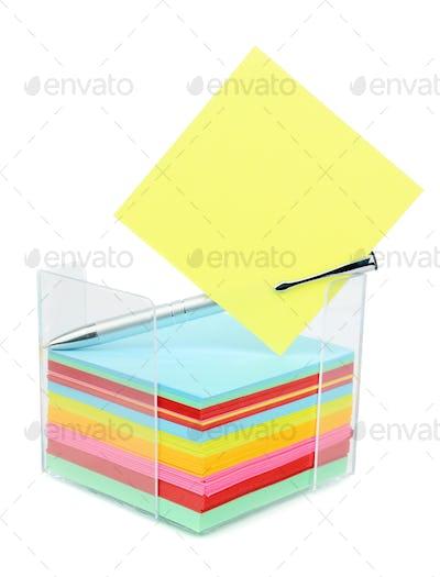 Block of Memo Notes