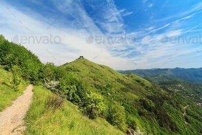 path over Genova hills