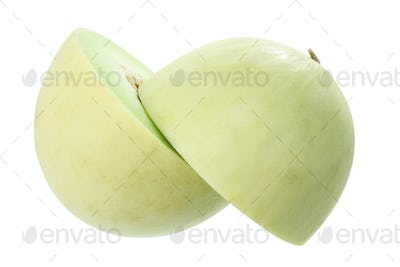 Halves of Honeydew Melon