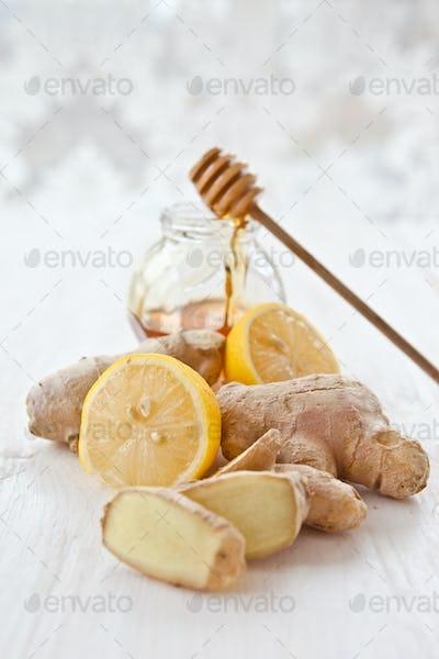 Lemon, ginger and honey