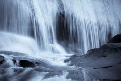 blue waterfall background