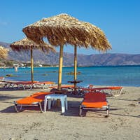 Parasols and sun loungers