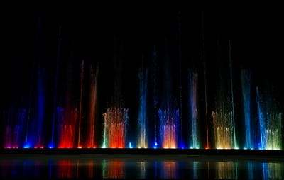Dancing colorful fountain