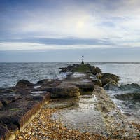 Sea Groyne at hengistbury Head in Dorset