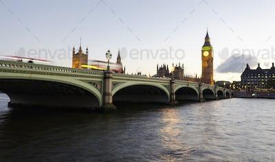 Dusk at Westminster Bridge