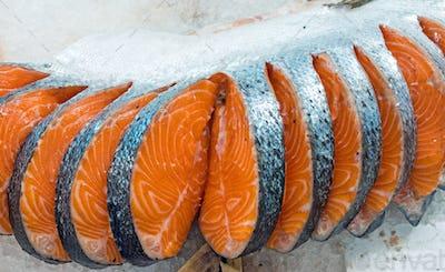 Fresh filet of salmon