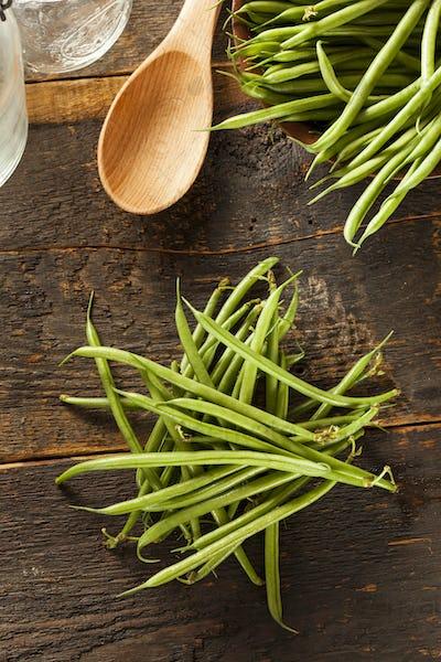 Fresh Organic Raw French Green Beans