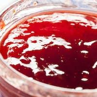 Homemade Organic Red Strawberry Jelly