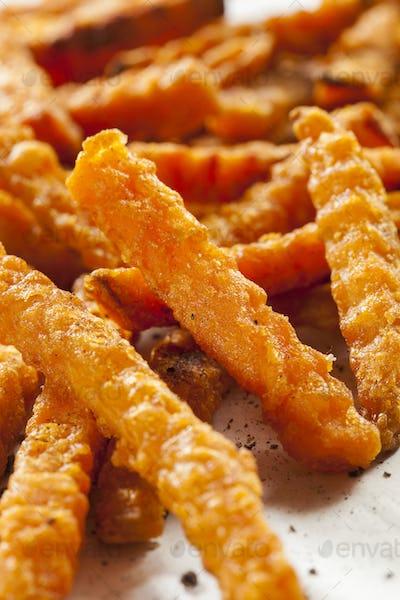Cripsy Organic Sweet Potato Fries
