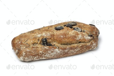 Fresh whole black olive bread
