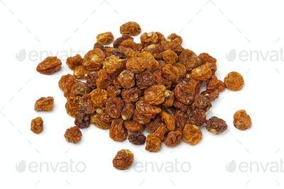 Heap of dried Cape gooseberries