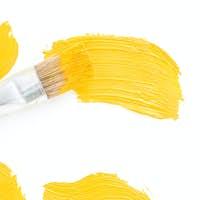 brush and oil paint stroke on white
