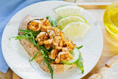 Grilled Prawn sandwich