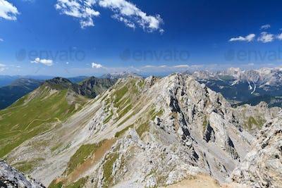 Lastei ridge and Selle pass