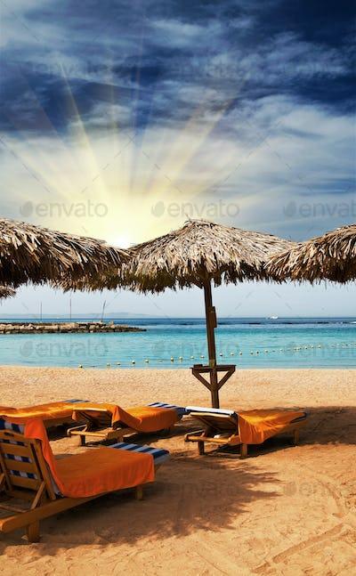 Wonderful tropical beach in the Egypt.