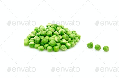 Green peas isolated on a whiteground.