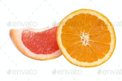 Segments of orange and grapefruit.