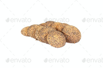 Heap of tasty cookie  on a white background.