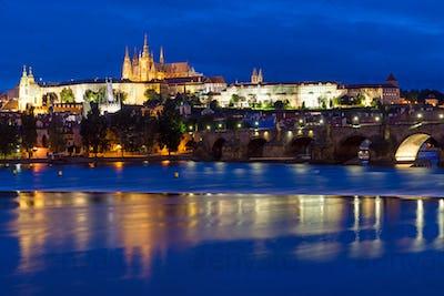 Charles Bridge and Castle in Prague