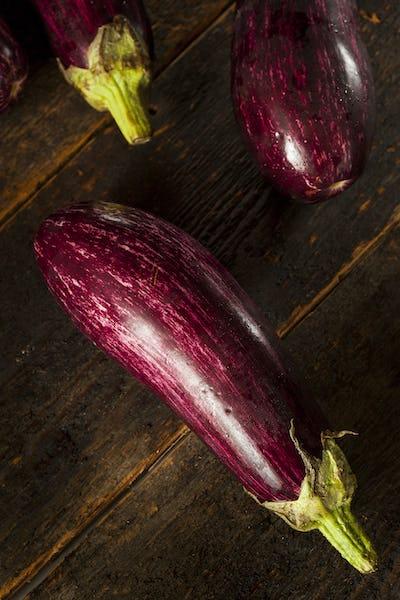 Ripe Organic Purple Eggplant