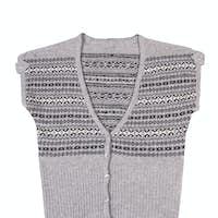 Modern warm waistcoat on a white.