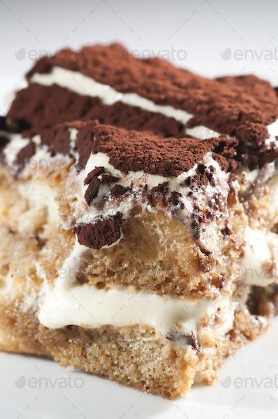 Classic, Traditional Tiramisu Fresh Cake