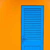 the old blue door