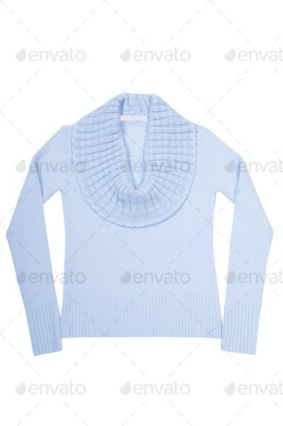 Modern blue sweater on a white.