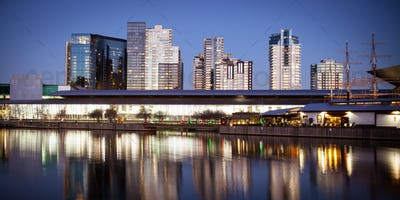 Melbourne Exhibition Centre At Night