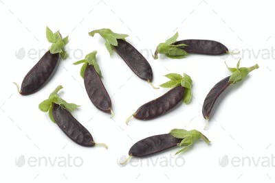 Mini purple snow peas