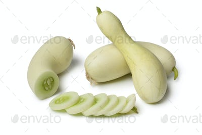 White cucumbers with slices