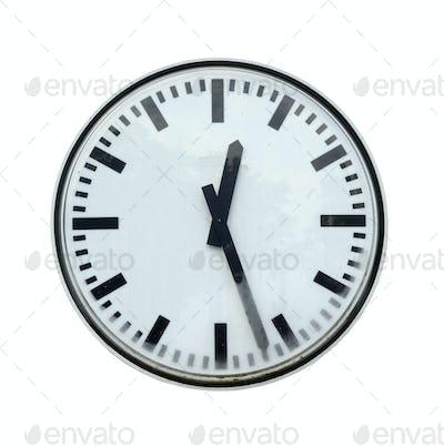 Grungy station clock